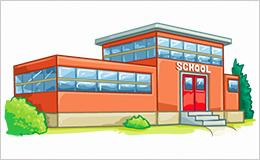 scuola edificio scolastico illustrazione